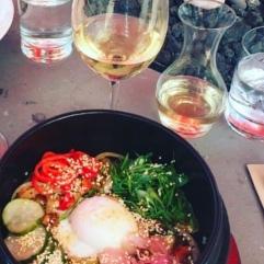 Bibimbap and White Wine Obvi ;)