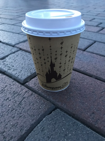 Hot chocolate which was much needed on a cold day at Disneyland Paris.