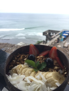 beautiful smoothie bowl with a view
