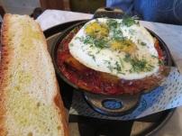 stewed eggs